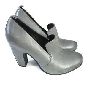 Kork Ease Grey Leather Harper Pumps
